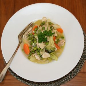 roasted chicken and vegetable stew